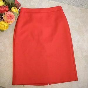 J.Crew No2. Orange Pencil Skirt